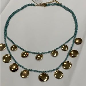 Jewelry - Turquoise & Goldtone Layered Necklace